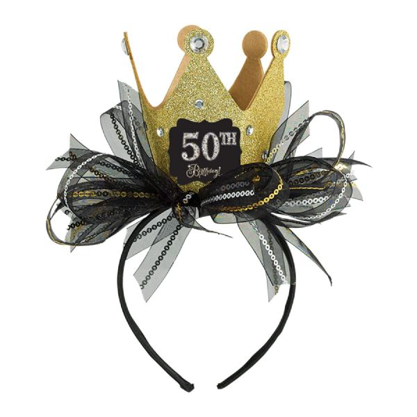 Gold Celebration Fascinator Add-An-Age